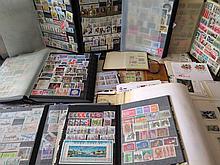 Important lot de timbres, France et Suisse, XXe s.