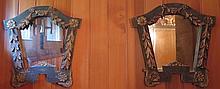 Paire de petits miroirs, XIXe s.