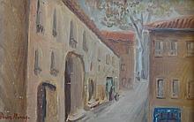 MONAY Pierre,  1896-1976 [CH]. Ruelle villageoise,