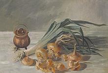 CHAPPUIS Jane, 19 > 20. Nature morte aux oignons, 1901,