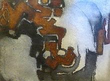 AUGSBURGER Jean-Edouard,  1925-2008 [CH]. Composition abstraite,