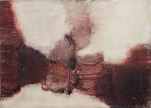 ZACK Léon,  1892-1980 [RU - FR]. - Composition rouge et blanche, 1964,