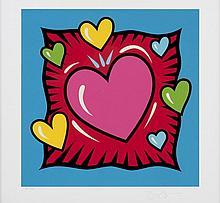 MORRIS Burton, *1964 [USA]. - Hearts (blue),