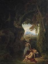 BECKER Carl Ludwig Friedrich,  1820-1900 [DE]. - Nymphes au bois,