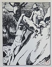 MEYLAN Henry,  1895-1980 [CH]. - Ensemble de trente-trois dessins représentant des sujets divers.