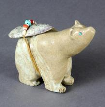 A Native American Stone Effigy