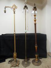 (3) Victorian Floor Lamps