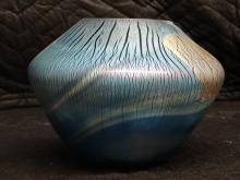 Robert Eickholt Irridescent Art Glass Vase