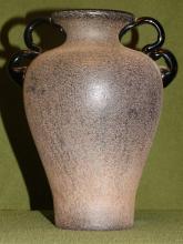 An Unusual American Art Glass Glazed Pottery Vase