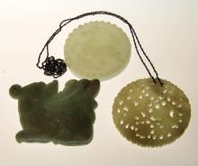 (3) Chinese Jade Pendants