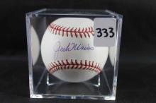 Autographed baseball: