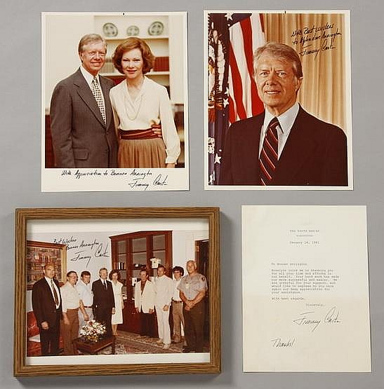 President and Mrs. Carter photos, signed