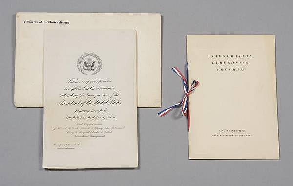 President Truman's Inauguration invitation