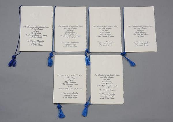 (14) Reagan White House program booklets