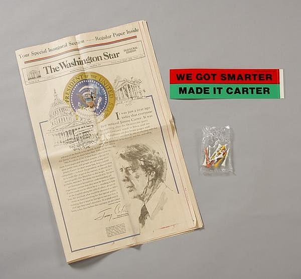 Pres. Carter campaign & inauguration mementos