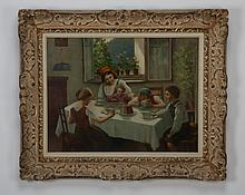 Early 20th c. oil on canvas, signed Hofmann