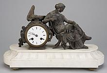 19th c. French figural mantel clock