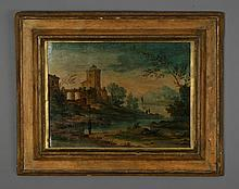 Early 20th c. Italian oil on panel, unsigned