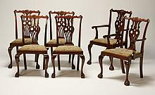 (6) 19th c. mahogany dining chairs