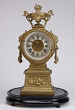 19th c. American gilt metal clock