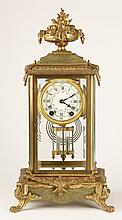 19th c. American bronze clock