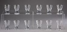 (12) Swedish crystal shot glasses