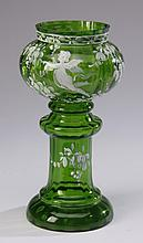 Mid 20th c. Bohemian glass vase