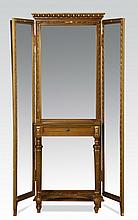 Early 20th c. gilt wood dressing mirror