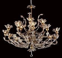 20th c. crystal beaded chandelier