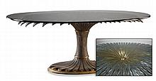 Contemporary glass top table