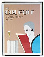 Art Deco style framed advertising poster