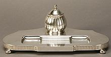 Early 20th c. silverplate inkwell