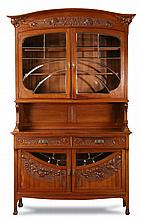 19th c. French Art Nouveau vitrine