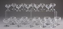 (20) Swedish crystal cordial glasses