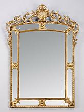 19th c. Continental gilt wood mirror, 71