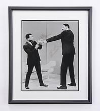 1967 Ali, Chamberlain autographed photo
