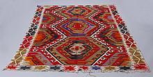 Mid 20th c. Caucasian wool kilim rug