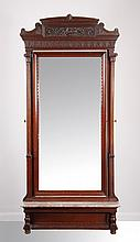 19th c. mahogany pier mirror