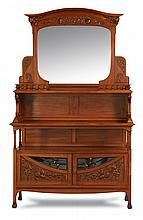 19th c. French Art Nouveau walnut buffet