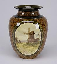 19th c. Doulton Lambeth vase, marked