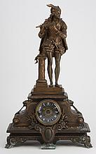 19th c. French bronze figural clock