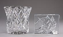 (2) Swedish art glass pieces
