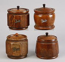 (4) Vintage English tea caddies