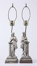 (2) Neoclassical inspired figural lamps