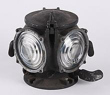 American cast iron electrified railroad light