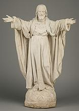 19th c. cast stone figure of Christ