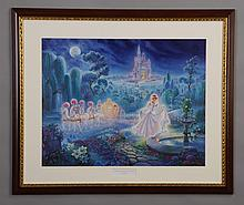 Limited edition framed Cinderella litho