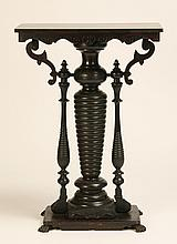 19th c. carved and incised pedestal