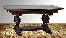 19th c. American carved oak table
