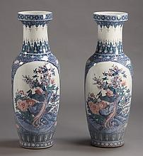 (2) Oversized Chinese vases, 41
